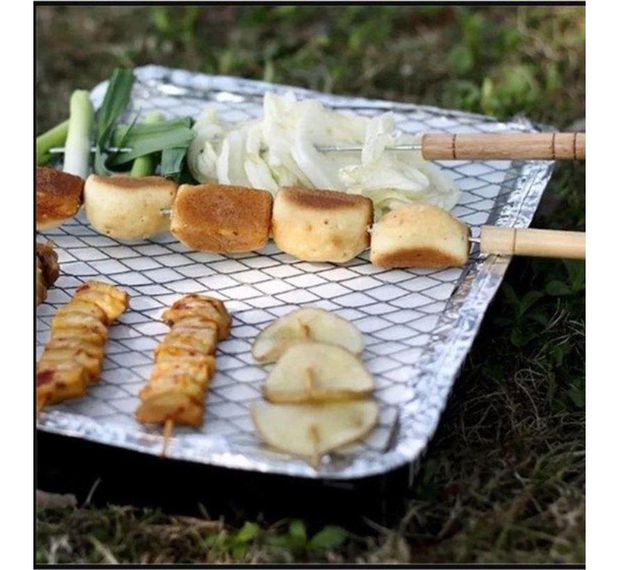 3 Stuks Barbecue - Instant - Wegwerp - Buiten barbecue - Tafel - Rooster - Balkon  - Barbecue accessoires - Grill