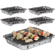 Discountershop 5 Pieces Barbecue - Instant - Disposable - Outdoor barbecue - Table - Grid - Balcony - Picnic - Barbecue accessories - Grill - Buy barbecue - Barbecue - Barbecue sauce -