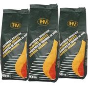 THM 3X houtskoolbriketten van 2.5 KG - 3 zakken houtskoolbriketten Per zak 2.5 KG - Barbecue - BBQ - 3 Stuks - Totaal 7.5 KG