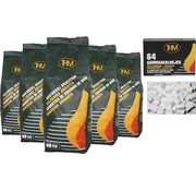 THM 5 X houtskoolbriketten 2 Kg per -inclusief aanmaakblokjes 64 Stuks - Barbecue - BBQ - 5 Stuks