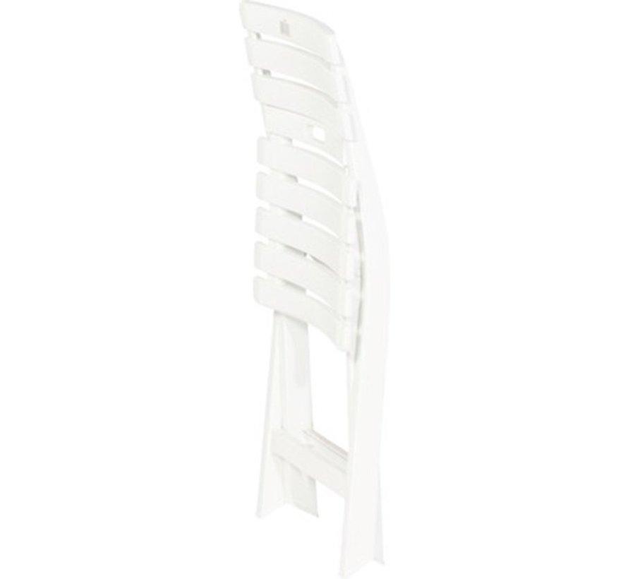 1x Robuuste kunststof klapstoel | Wit | tuinstoel bistrostoel balkonstoel campingstoel |Opvouwbaar | Relaxen |46 cm x 41 cm x 78 cm