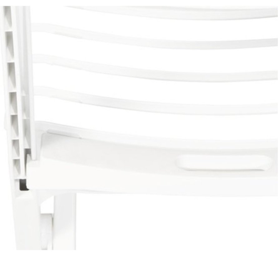 2x Robust plastic folding chair | White | Garden chair Bistro chair Balcony chair Camping chair |Foldable | Relaxing |46 cm x 41 cm x 78 cm | Top!
