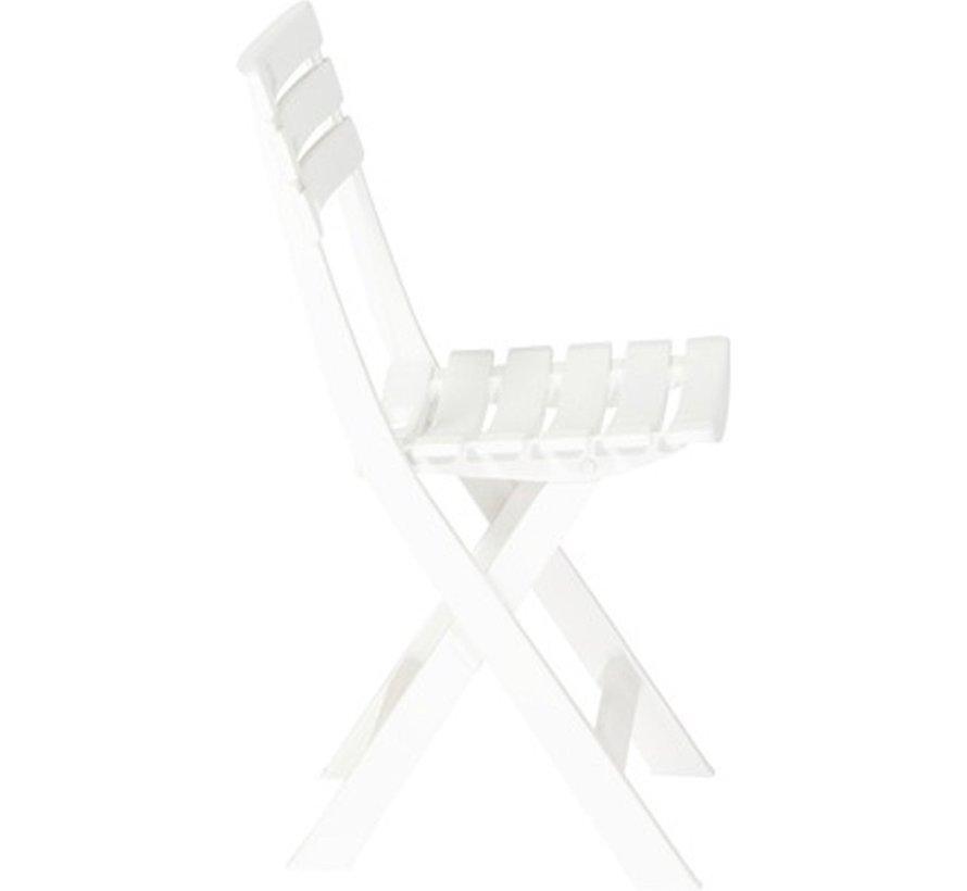 3x Robust plastic folding chair   White   Garden chair Bistro chair Balcony chair Camping chair  Foldable   Relaxing  46 cm x 41 cm x 78 cm   Top!