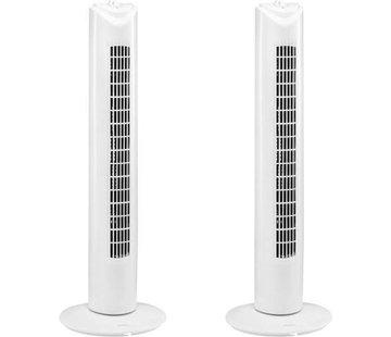 Merkloos 2 Stuks Ventilator - torenventilator - torenventilator ventilator zuil wit - torenventilator kopen