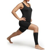 TRX 2 X Copper Calf Bandage - (1 Pair) Copper Support Copper Infused High Quality Breathable Design Provides Comfortable And Durable Joint Support - All Lifestyles - Size L - Size L