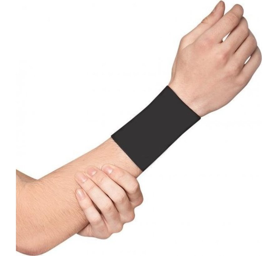 2 X Wrist Support With Copper Support - Compression Wrist Sleeve - Copper Infused Wrist Support For Men And Women - Improve Circulation And Recovery (1 Pair) - Size XL - Size XL