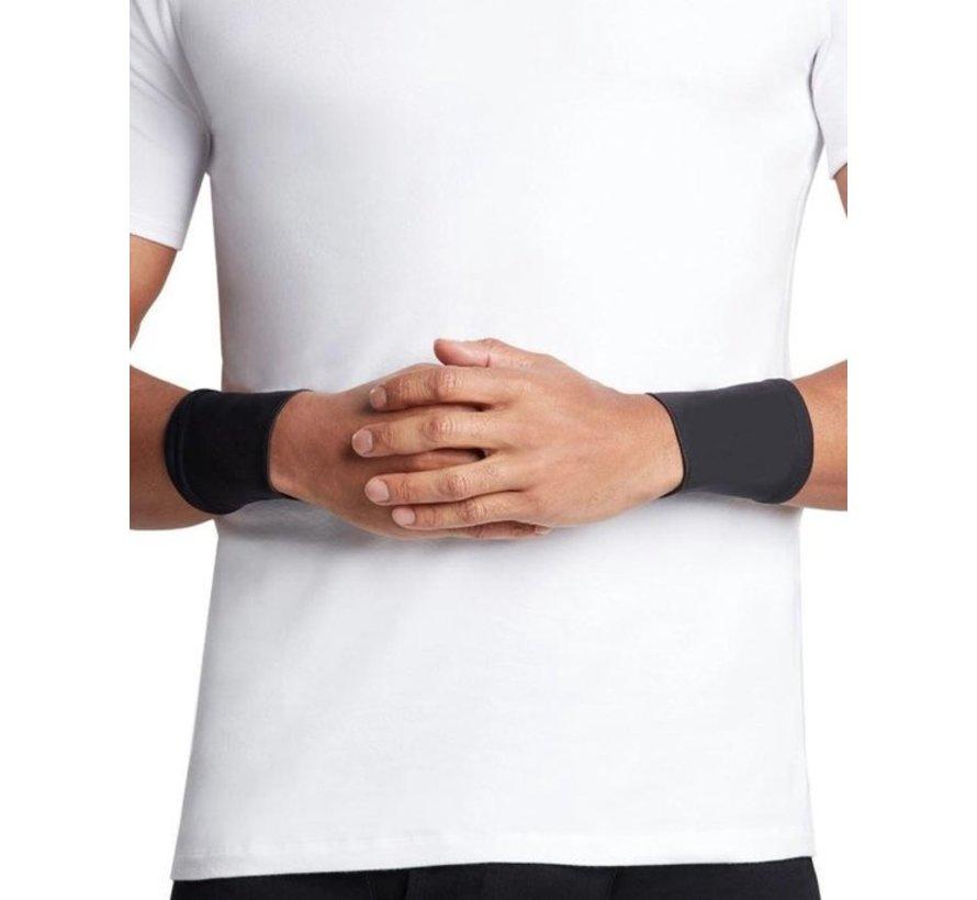 2X Polssteun met koper ondersteuning - Compressie pols sleeve-koper geïnfundeerde polssteun voor mannen en vrouwen -circulatie en herstel verbeteren (1 paar) - Maat L - Size L