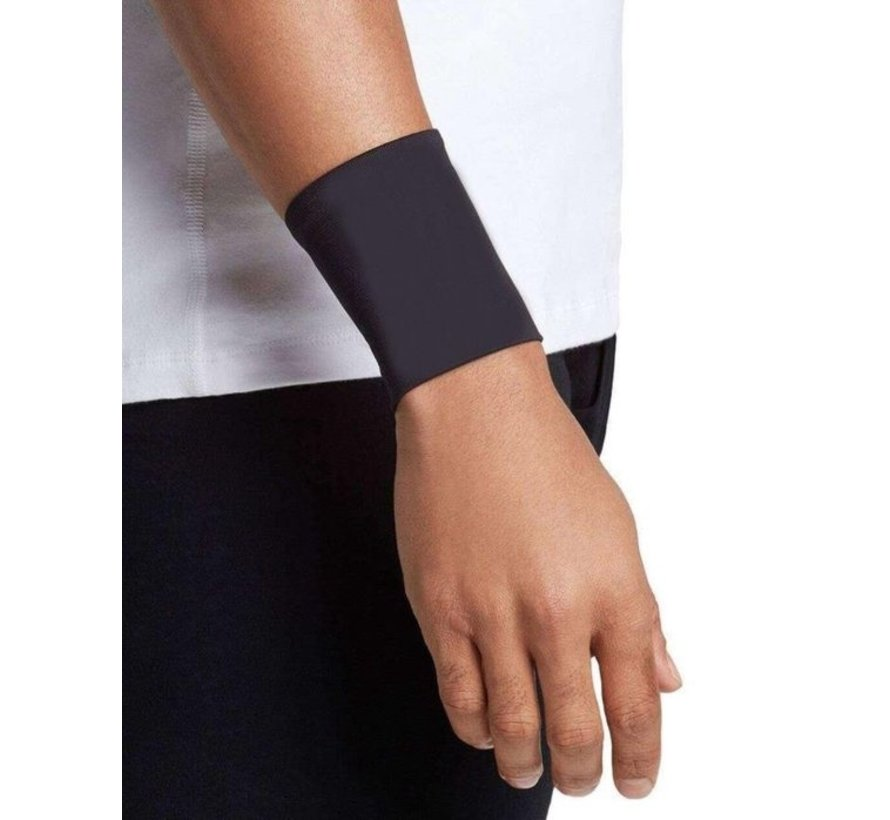 2X Wrist Support with Copper Support - Compression Wrist Sleeve - Copper Infused Wrist Support for Men and Women -Improve Circulation and Recovery (1 Pair) - Size L - Size L