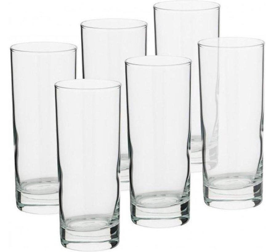 12 Stuks Glazen waterglazen - 12 longdrinkglazen 27 cl inhoud