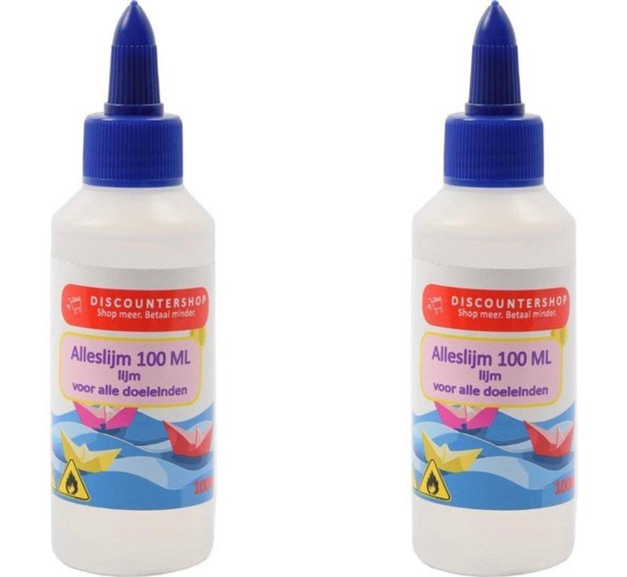 2 X All purpose glue 100ML - Glue - Glue for paper - Glue for cardboard - Glue for textiles - Glue for polystyrene foam.