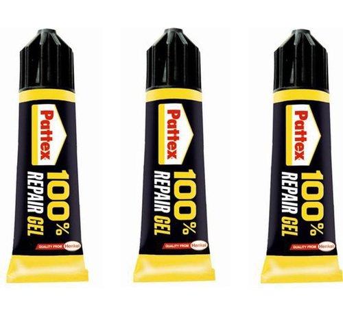 Pattex 3 pieces Super glue 100% repair glue - super glue - Glue - Strong 100 % repair glue - Pattex glue - Pattex super glue