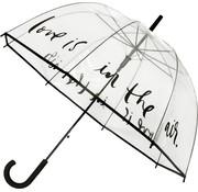 Falconetti Umbrella - Dome Umbrella Transparent - Dome Umbrella PVC Diameter 85 cm - Automatic - Love is in the Air!