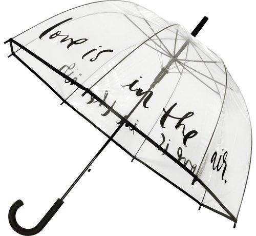Falconetti Paraplu - Koepelparaplu Transparant - Koepelparaplu PVC Diameter 85 cm - automaat - Love is in the Air !
