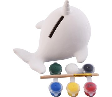 Merkloos Spaarpot - Verf je eigen spaarpot - Vis spaarpot - Paint Your Own Fish Bank