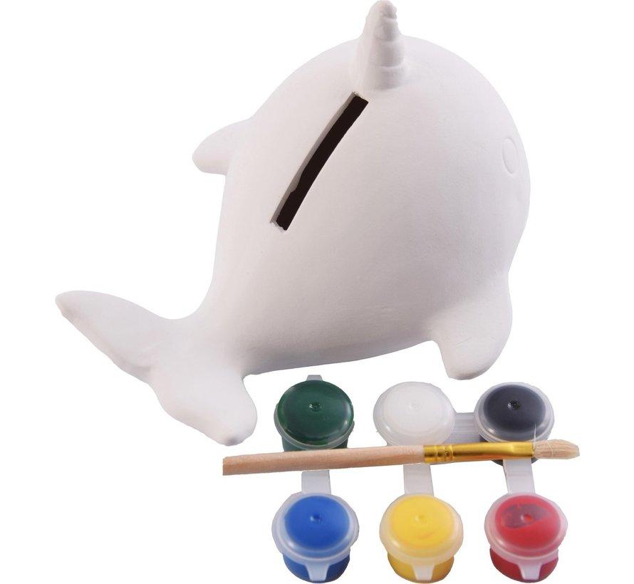 Spaarpot - Verf je eigen spaarpot - Vis spaarpot - Paint Your Own Fish Bank