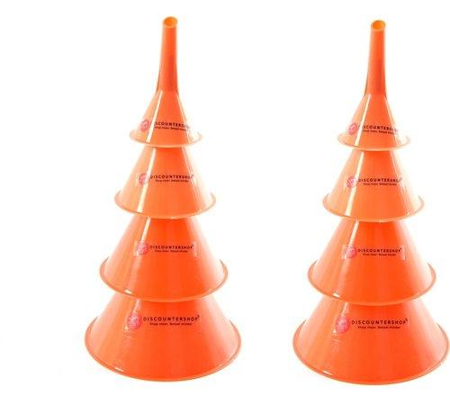 Merkloos Trechter set - Trechter Olie-, Zuur en Brandstofbestendig (50mm75mm95mm115mm) 2 X 4-delige