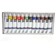 Acryl Paint Acrylic Paint Set of 12 Colors Tubes |12 x 12 ml| High Quality Non Toxic Rich Pigments Perfect For Paper Stone Wood T-Shirt Canvas, Ideal For Kids And Adults, Beginners Or Professional