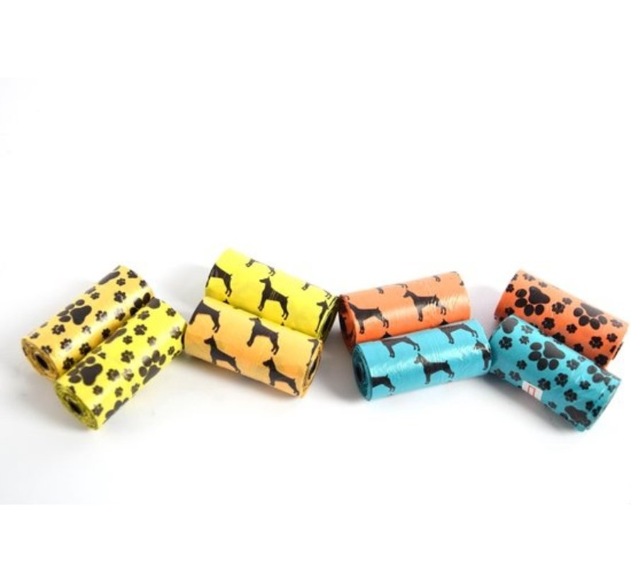 8x rolls   Dog Poop Bag   Poop bags   Dogs   poo   Dog   Poop Bag   Dog poo   Poop Bag   turd   cheerful colors