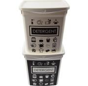 Merkloos 2x Waspoeder box | EHBO-benodigdheden |multibox 6liter |Handig |reinigingsmiddel | 23x18x24,5cm 300g| was tabletten| Poedercontainer met hengsel | Topper!