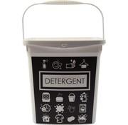 Merkloos Waspoeder box | EHBO-benodigdheden |multibox 6liter |Handig |reinigingsmiddel | 23x18x24,5cm 300g| was tabletten| Poedercontainer met hengsel | Topper!