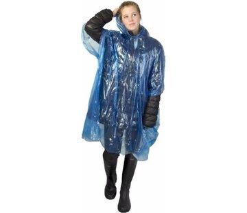 Merkloos wegwerp regenponcho transparant/blauw voor volwassenen |uniseks | Regenjas capuchon | Lichtgewicht |Regen | wegwerpponcho