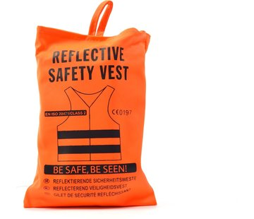 Merkloos 1x veiligheidsvest in mooi zak oranje| Veilig safety | Veiligheidshesje | Bouw | Verkeer | veiligheidsvest voor veiligheidswaarschuwing - oranje