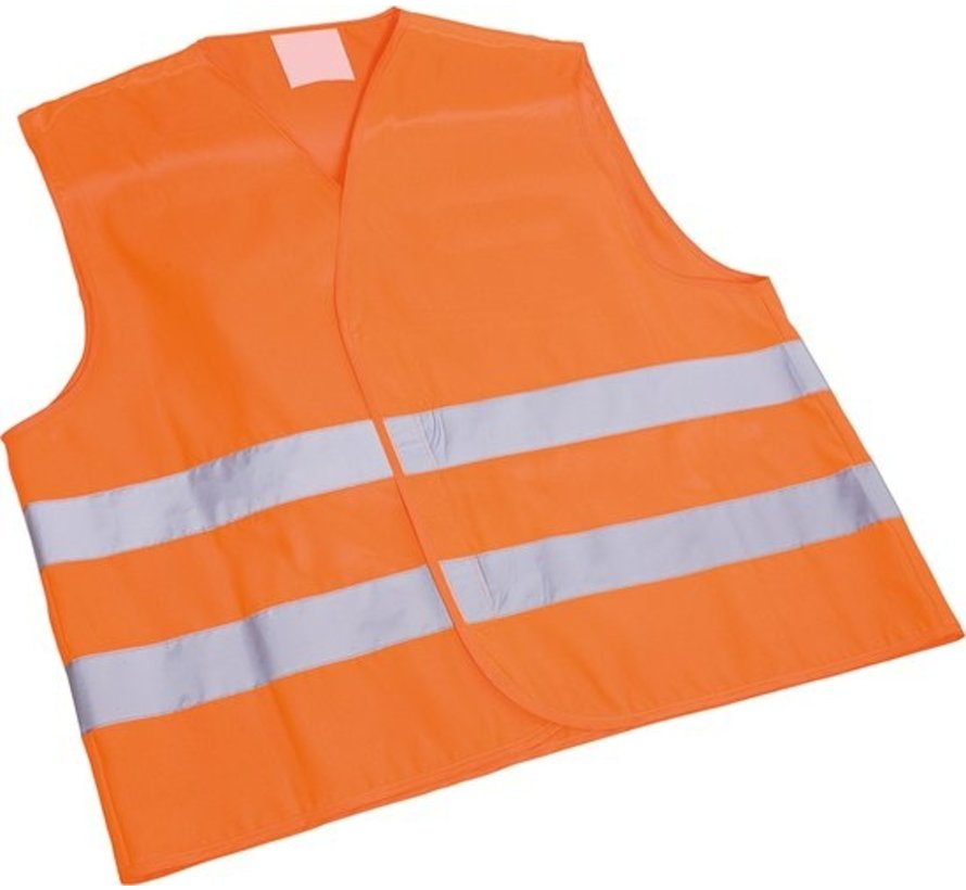 1x safety vest in nice pocket orange| Safe safety | Safety vest | Construction | Traffic | Safety Warning Vest - Orange