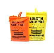 Merkloos 2x safety vest in nice pocket orange/yellow  Safe safety   Safety vest   Construction   Traffic   safety vest for safety warning - Orange/Yellow