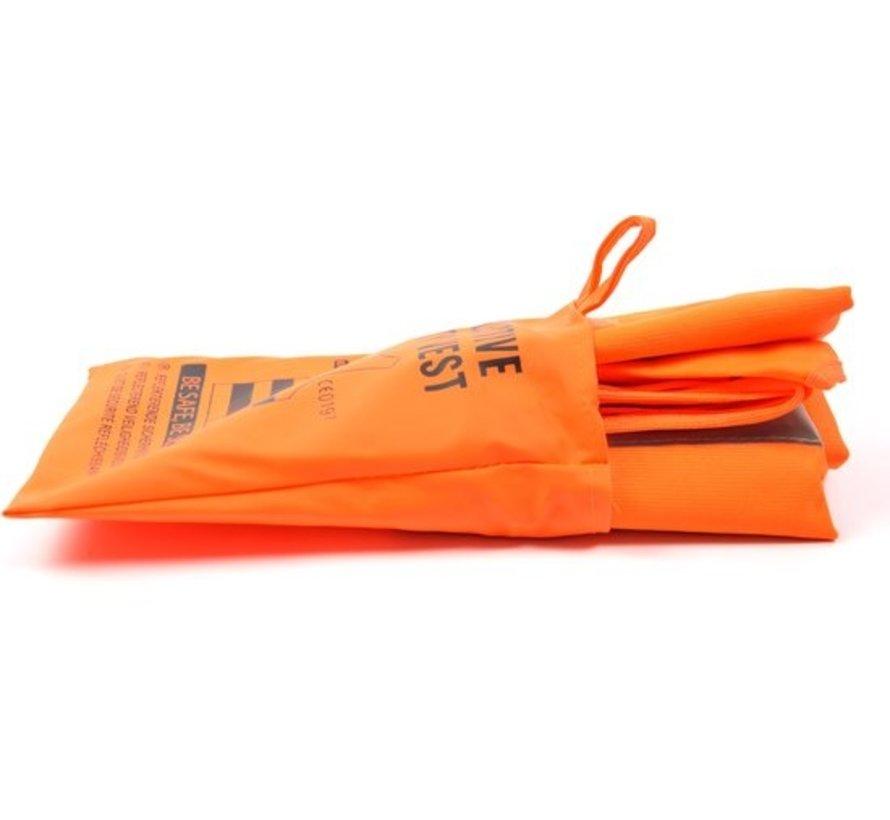 2x veiligheidsvest in mooi zak oranje  Veilig safety   Veiligheidshesje   Bouw   Verkeer   veiligheidsvest voor veiligheidswaarschuwing - oranje