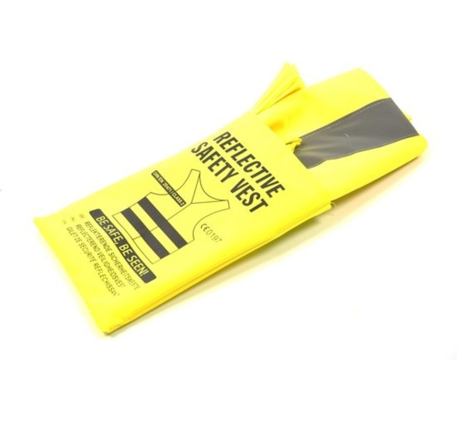 3x veiligheidsvest in mooi zak Geel  Veilig safety   Veiligheidshesje   Bouw   Verkeer   veiligheidsvest voor veiligheidswaarschuwing - Geel