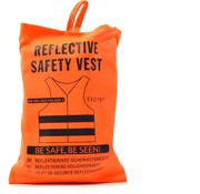 Merkloos 3x safety vest in nice pocket orange| Safe safety | Safety vest | Construction | Traffic | Safety Warning Vest - Orange
