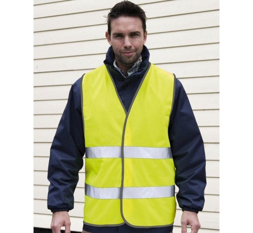 4x safety vest in nice pocket Yellow  Safe safety   Safety vest   Construction   Traffic   Safety Warning Vest - Yellow -