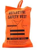 Merkloos 4x veiligheidsvest in mooi zak oranje  Veilig safety   Veiligheidshesje   Bouw   Verkeer   veiligheidsvest voor veiligheidswaarschuwing - oranje