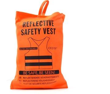 Merkloos 4x safety vest in nice pocket orange| Safe safety | Safety vest | Construction | Traffic | Safety Warning Vest - Orange -
