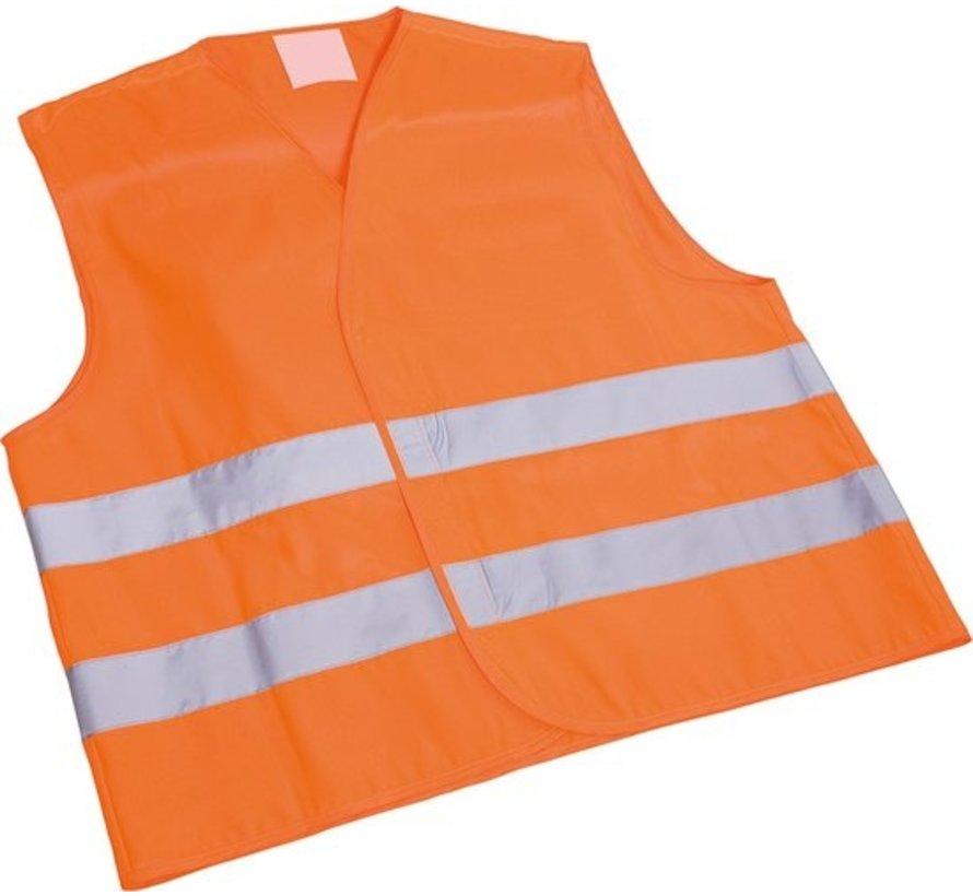 4X veiligheidsvest in mooi zak oranje Veilig safety Veiligheidshesje Bouw Verkeer veiligheid veiligheidswaarschuwing