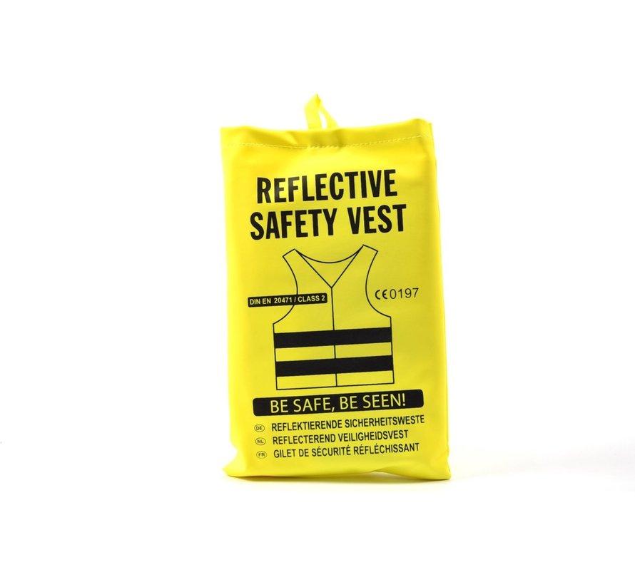 5x safety vest in nice pocket Yellow  Safe safety   Safety vest   Construction   Traffic   Safety Warning Vest - Yellow - - Copy