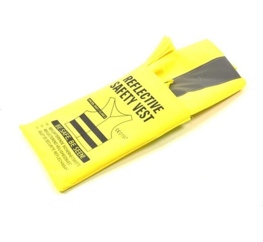 5x veiligheidsvest in mooi zak Geel  Veilig safety   Veiligheidshesje   Bouw   Verkeer   veiligheidsvest voor veiligheidswaarschuwing - Geel  - Copy