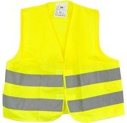 Merkloos 1x veiligheidsvest in mooi zak Geel| Veilig safety | Veiligheidshesje | Bouw | Verkeer | veiligheidsvest voor veiligheidswaarschuwing - Geel - Copy