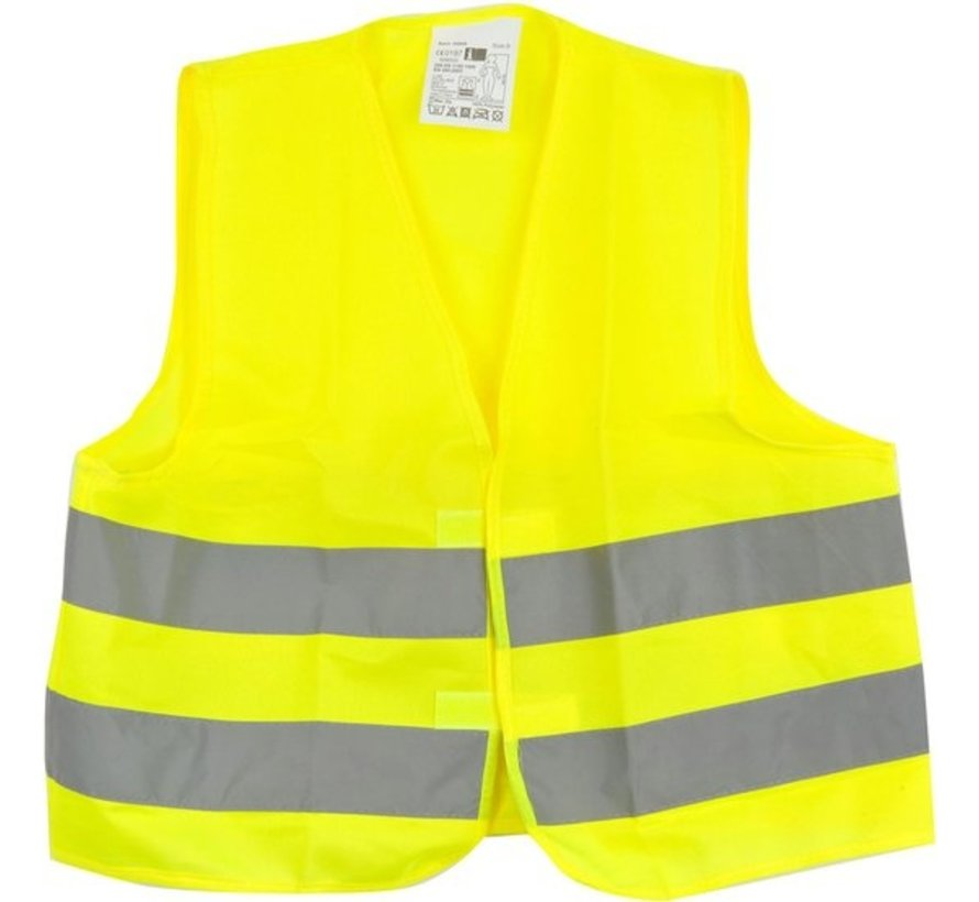 1x safety vest in nice pocket Yellow| Safe safety | Safety vest | Construction | Traffic | Safety Warning Vest - Yellow - Copy