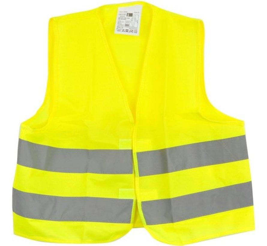 1x veiligheidsvest in mooi zak Geel| Veilig safety | Veiligheidshesje | Bouw | Verkeer | veiligheidsvest voor veiligheidswaarschuwing - Geel - Copy