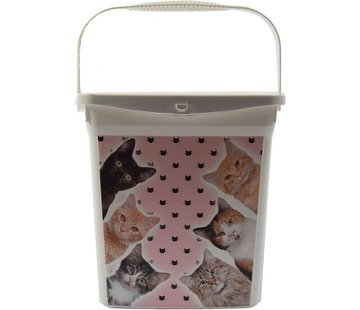 Merkloos feed storage | Feed container | Cat/kitten | Animals | Storage box | food container | 6 liters 23x18x24.5 cm | pet food| Top!