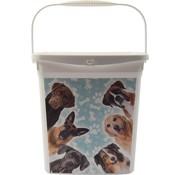 Merkloos voeropslag | Voercontainer | honden | Droogvoer | Hond/Puppy's | Dieren | Voedselbak |Bewaarbox | voedselcontainer | 6liter 23x18x24,5cm 300g| dierenvoeding| Topper!