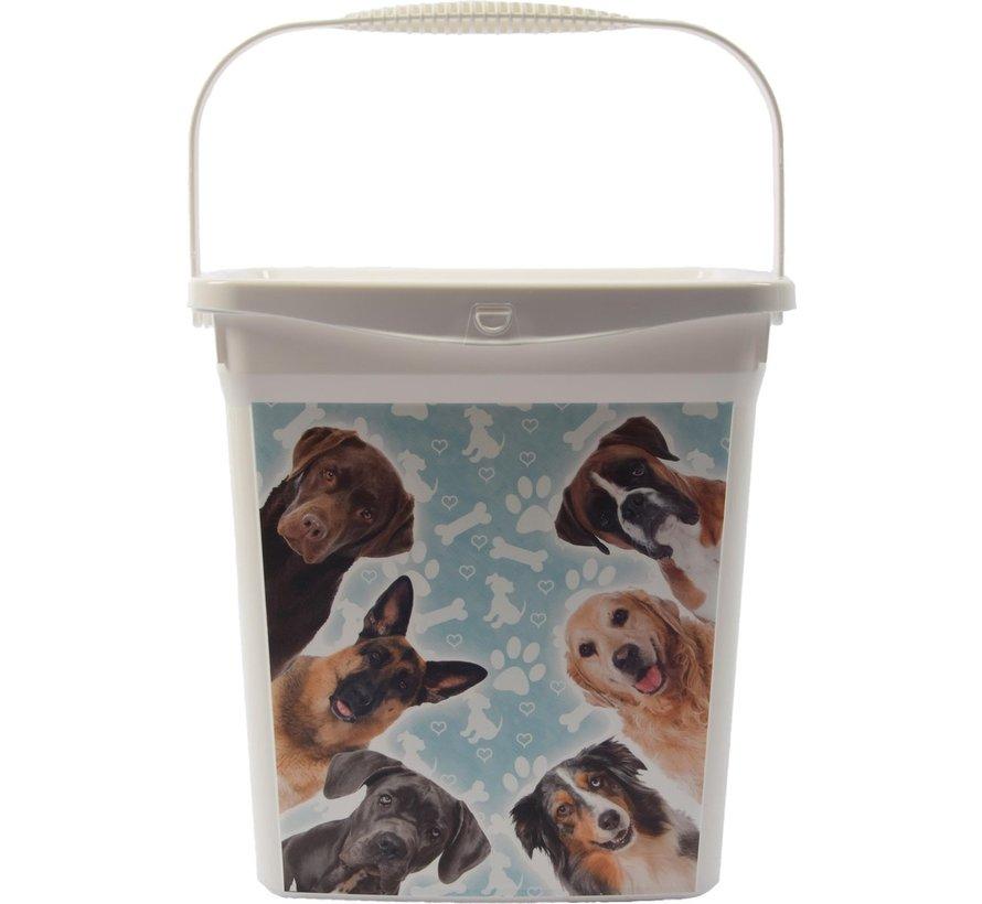 Set van 3x Voeropslag Hond en Kat   6+4liter  Voedercontainer  Voerton  Hondenvoer/kattenbak  Katten  Voer   Kattencontainer   Droogvoer  Voedselbak   Container  Kattenbakvulling  Hondenbakvulling