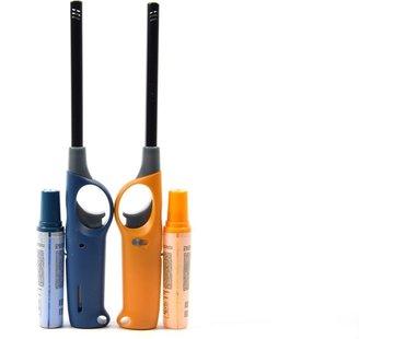 Merkloos Gasaansteker met navulling 2X Geel en Blauw - Hervulbare Navulbare Aansteker - Kinderbescherming - Vlamaanpassing - Branstofindicator -