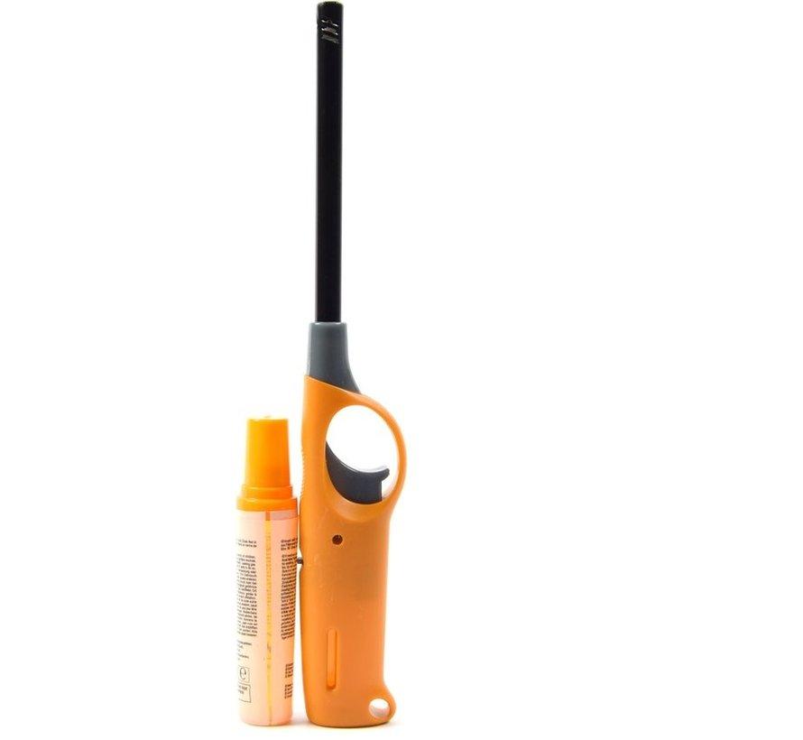 Gasaansteker met navulling 2X Geel en Blauw - HervulbareNavulbare Aansteker - Kinderbescherming - Vlamaanpassing -