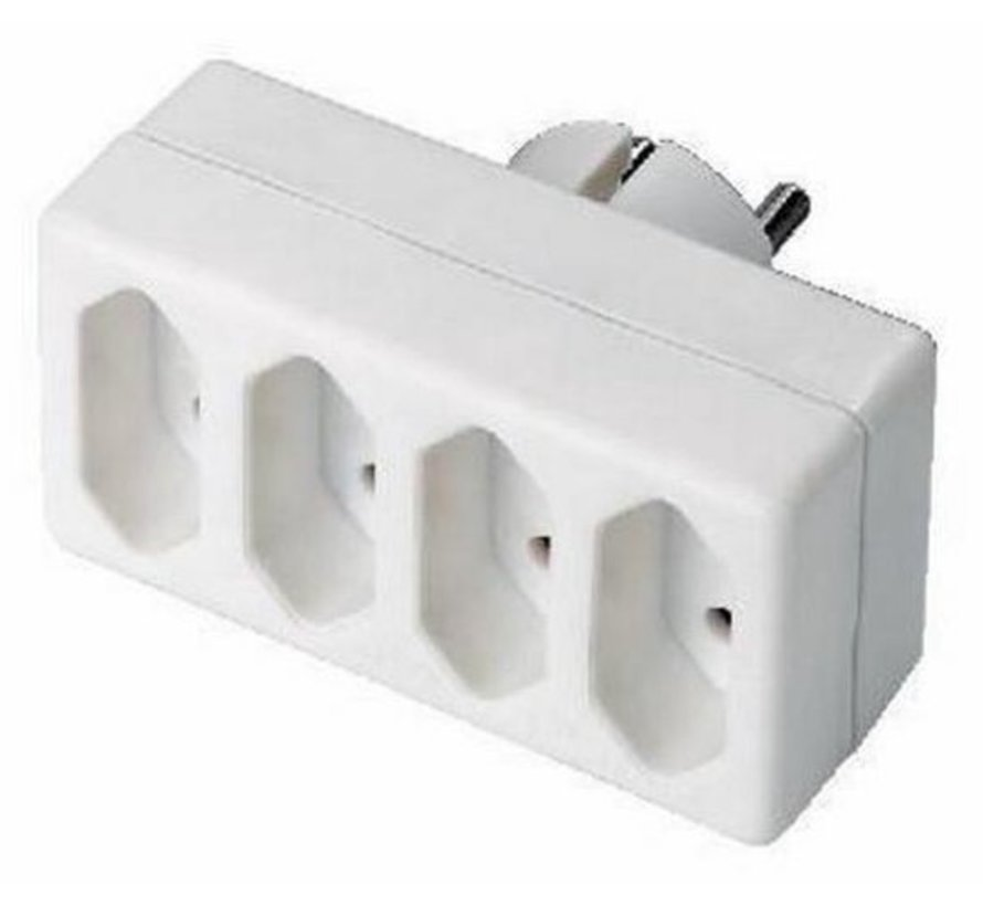 4-Way Power Distribution Plug (Horizontal) Only suitable for the Netherlands