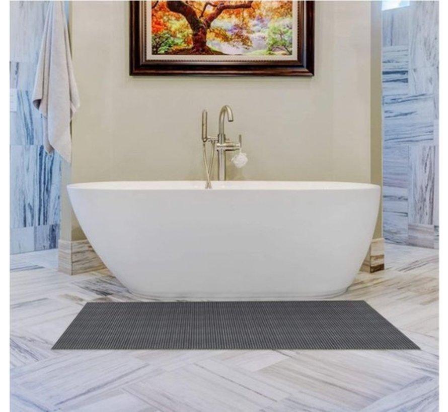 Bath mat - bath mat - soft foam mat - bath runner - non-slip - grey, 56x90cm underlay for kitchen, bathroom, hall, sauna or terrace