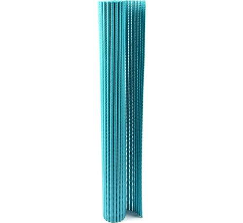 Merkloos Bath mat - bath mat - soft foam mat - bath runner - anti-slip - Blue 65x90cm mat for kitchen, bathroom, hall, sauna or terrace