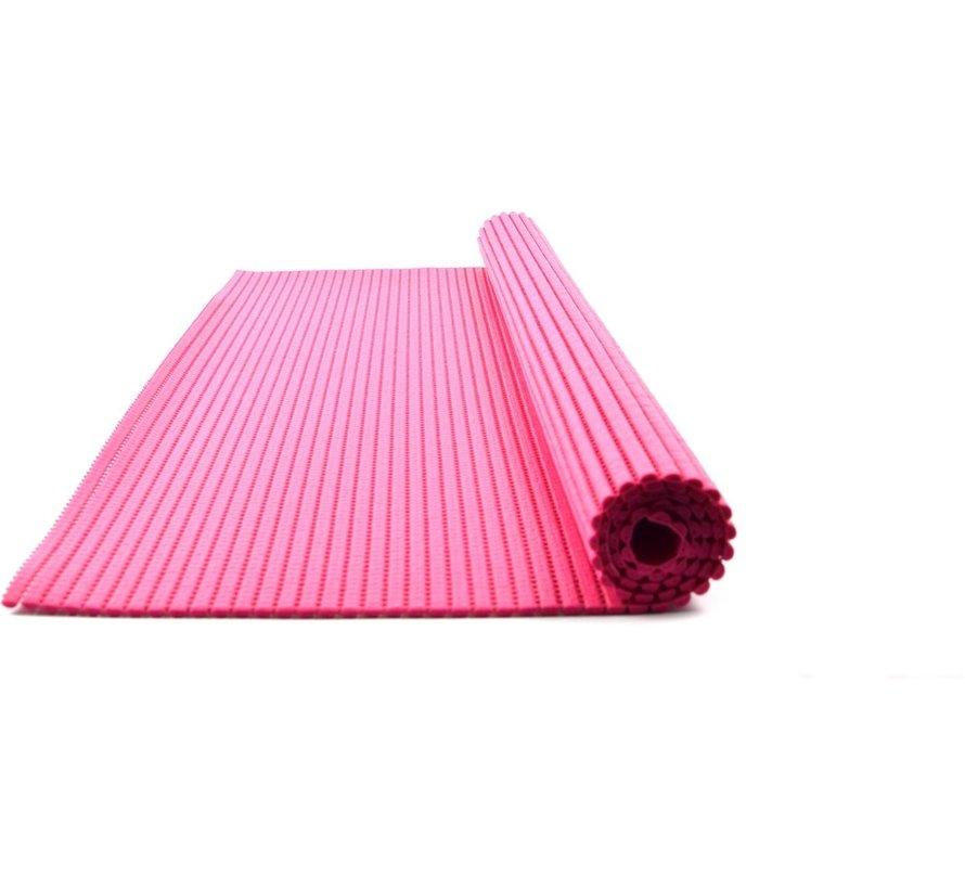 Bath mat - bath mat - soft foam mat - bath runner - non-slip - Pink, 65x90cm mat for kitchen, bathroom, hall, sauna or terrace