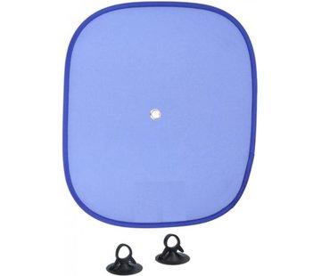 Merkloos Zonwering Zonnescherm Auto UV Protectie 2 Stuks Autozonwering Voor Autoraam Zijruit -Blauw